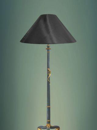 PIED DE LAMPE DE PARQUET EN BOIS SCULPTÉ DE STYLE ÉTRUSQUE