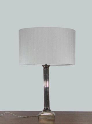 LAMPE COLONNE EN MÉTAL ARGENTÉ