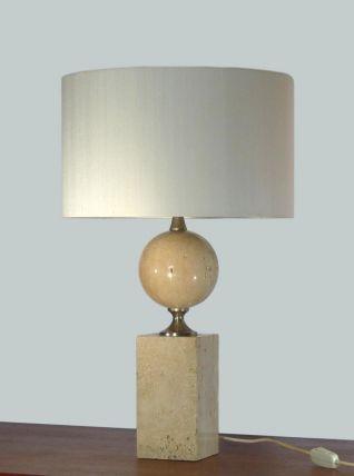 LAMPE BARBIER EN TRAVERTIN 1970