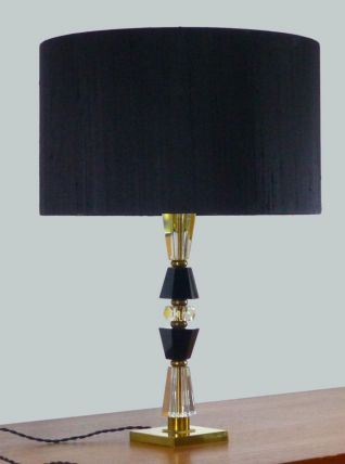 LAMPE HOLLYWOOD REGENCY EN CRISTAL VINTAGE