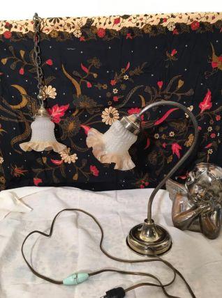 Lampe (70 €) et Suspension (35 €)