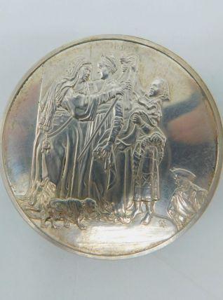 Médaille en argent 950/1000 - Visitation
