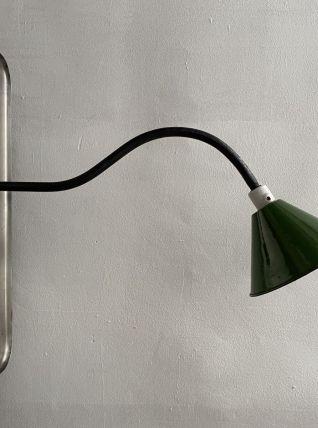 ANCIENNE LAMPE INDUSTRIELLE POTENCE COL DE CYGNE