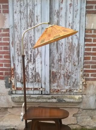 Lampadaire table d'appoint 1960