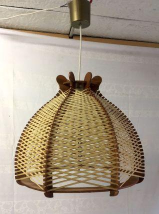 Suspension style scandinave bois et fil - années 60