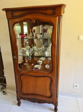Argentier vitrine en merisier - avec miroir très bon état