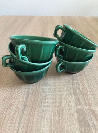 Tasses à café vertes