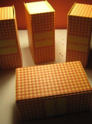4 boites de rangements vintage 1960/1970