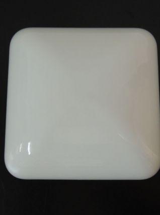 Plafonnier carré en opaline