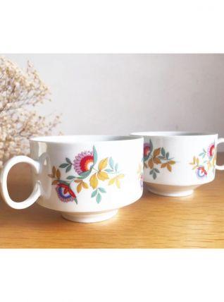 Tasses porcelaine vintage