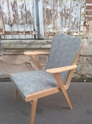fauteuil pied compas scandinave