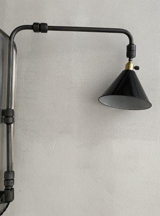 ANCIENNE LAMPE APPLIQUE INDUSTRIELLE 3 BRAS