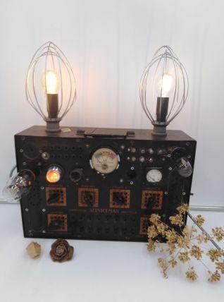 Lampe industrielle/detournement d'objet/