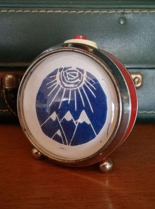 """Cadre déco, cadre réveil Montagne """"Rouge Bleu"""""""