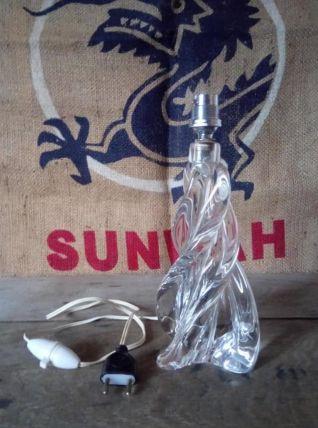 Jolie pied de lampe en cristal de sèvres (France) Années 50