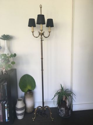 Lampadaire bronze et laiton 1960/1970