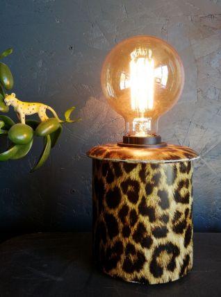 "Lampe vintage, lampe de table, lampe de bureau ""Léopard"""