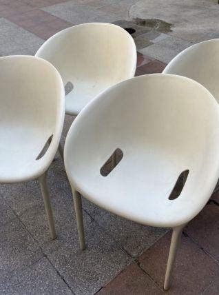 4 Fauteuils « soft Egg » - Philippe Starck