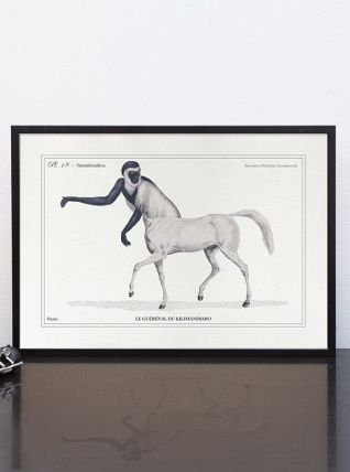 Chimère - gravure lithographie - le guéréval