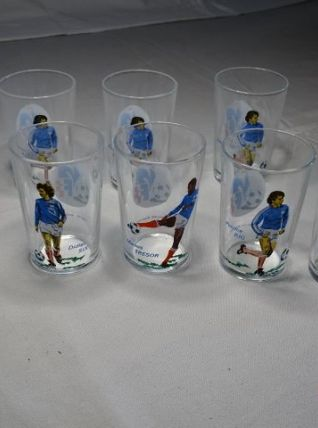 Verres footballers année 1978 FFF