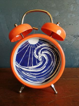 "Cadre déco, cadre réveil Océan ""Orange Bleu"""