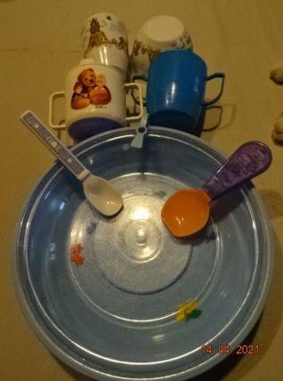 Lot de vaisselle vintage pour bébé enfant