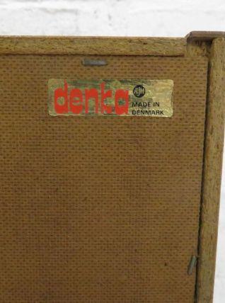 Commode basse scandinave vintage signée Denka en teck, 1960s