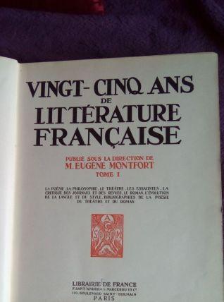 25 ans de littérature française