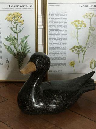 Canard bois vintage décoratif