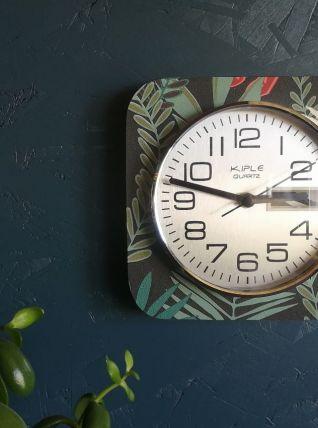 """Horloge vintage, pendule murale """"Kiplé Quartz"""""""