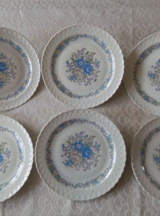 6 assiettes plates Porcelaine du BERRY