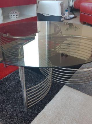 Table basse des années 70 D 80cm