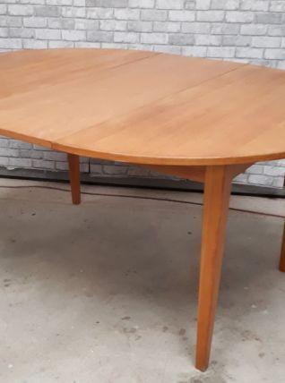 table ovale danoise 160x120cm plaquage hetre natural  h73x 1