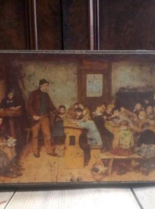 Ancienne boite publicitaire en tôle lithographiée (ALSA)