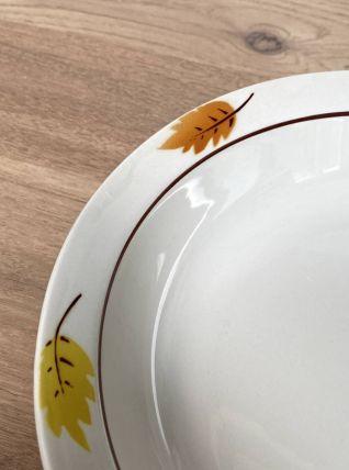 Ensemble de 3 plats Moulin des Loups feuilles d'automne