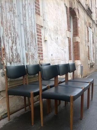 Six chaises scandinave année 70