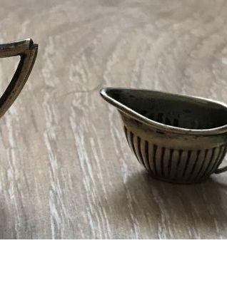 dinette métal argenté