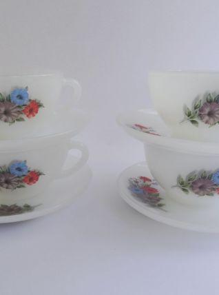 Tasses à café avec sous-tasses Arcopal