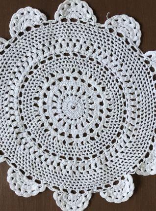 Ensemble de 5 beaux napperons blanc