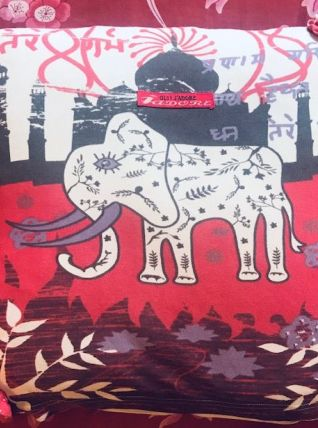 Housse de coussin Ganesh fin années 80