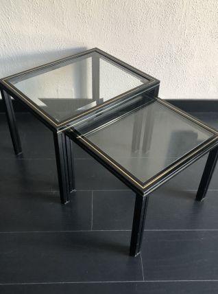Paire de tables gigogne Pierre Vandel vintage 1970 - 50 x 41