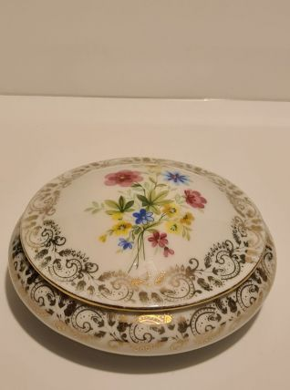 Boîte Porcelaine de limoges décors Floral