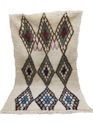 163x100cm Tapis berbere marocain azilal