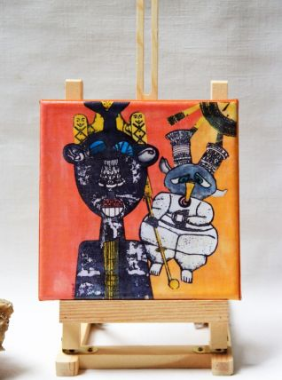 Reproduction sur châssis petit format peinture art singulier