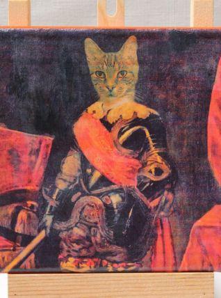 Chat en costume d'époque. Portrait de chat en prince.