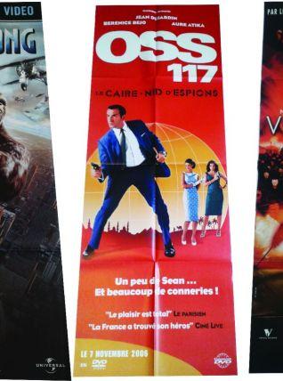 Lot de 470 affiches de films  format pantalon pour Vidéoclub