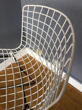Chaise Bertoïa Wire blanche