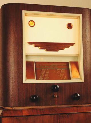 Luminaire à poser poste TSF Pathé vintage upcycling
