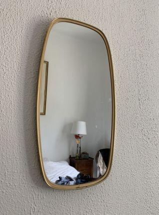 Miroir vintage 1960 rétroviseur - 46 x 24 cm