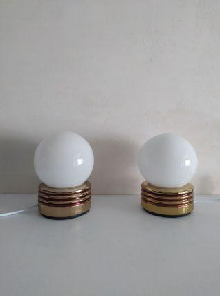 Paire de lampes vintage